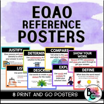 EQAO Test Prep - Keyword Reference Posters