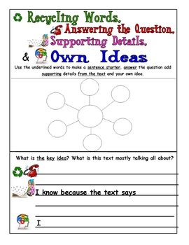 EQAO Test Prep Main Idea and Finding the Author's Message