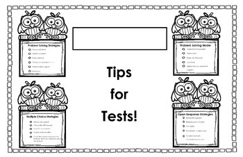 Test Prep Placemat Support *FREEBIE*