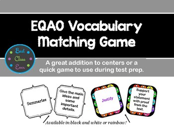 Test Prep: Vocabulary Matching Game