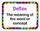 Test Prep: EQAO Vocabulary Posters