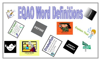 EQAO Word Definitions Posters