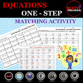 Solving One-Step Equations Matching Activity