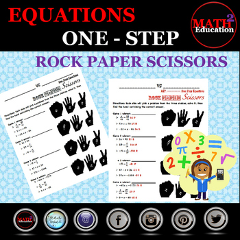 Solving One Step Equations Rock Paper Scissors