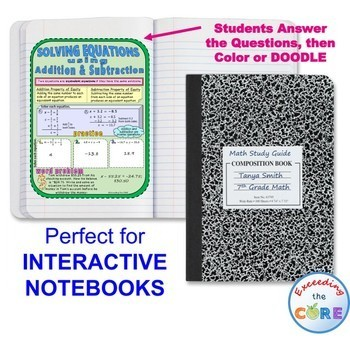 EQUATIONS Doodle Notes (Study Guides)