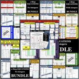EQUATIONS GALORE!!!  SUPER BUNDLE of DIFFERENTIATED ACTIVITIES