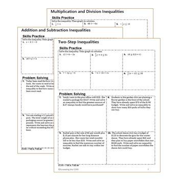 equations inequalities homework worksheets skills practice word problems. Black Bedroom Furniture Sets. Home Design Ideas