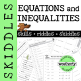 EQUATIONS and INEQUALITIES - Algebra Skiddles