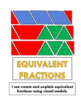 EQUIVALENT FRACTIONS INTERACTIVE NOTEBOOK