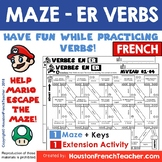 ER Verbs French/Verbes ER - Grammar/conjugation game + DIS