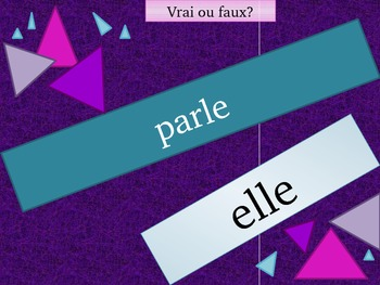 ER Verbs in French Verbes ER Present tense Review game
