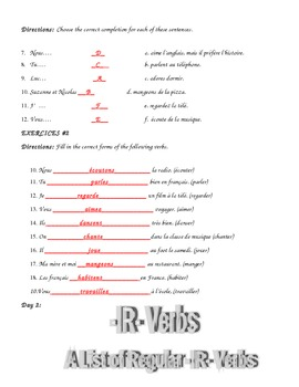 ER - IR -RE Verbs Complete Lesson.