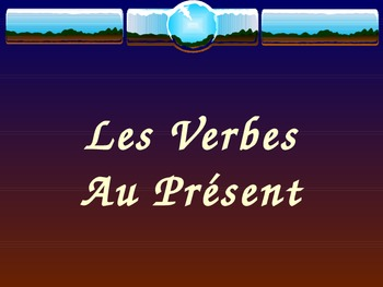 ER - IR -RE Verbs Complete Lesson PowerPoint