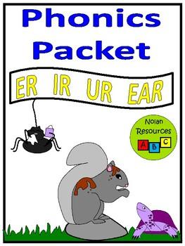 ER - IR - UR - EAR - Phonics Lesson Packet