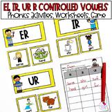 R Controlled Vowels | ER  IR  UR | Phonics Worksheets Activities
