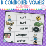 R Controlled Vowels Word Sort Activities