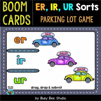 ER, IR, UR Sorts | Boom Cards | Parking Lot Game
