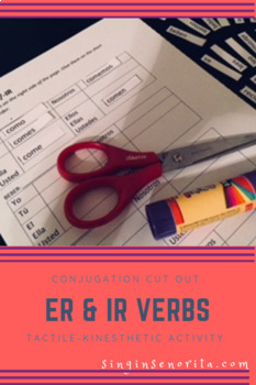ER/IR Verbs Cut & Paste Worksheet