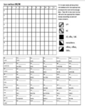 ER & IR Verbs Fall Picture Reveal Grid