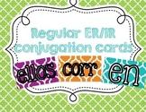 ER & IR verb conjugation cards