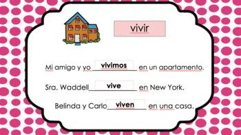 ER/IR verb conjugation Power Point