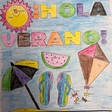ER/IR verbs in Spanish Summer coloring page