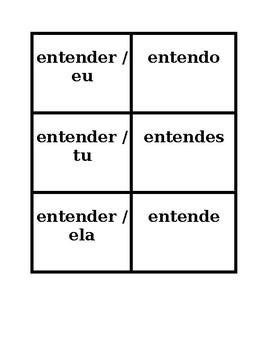 ER verbs Portuguese Present tense Concentration games