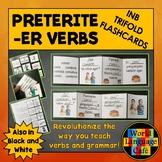 Preterite ER Verbs Spanish Interactive Notebook Trifold Flashcards, Pretérito