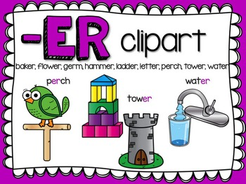 ER  R-Controlled Vowel Clipart by Teacher Laura