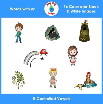ER R-Controlled Vowels Clip Art Set by Roly Poly Designs