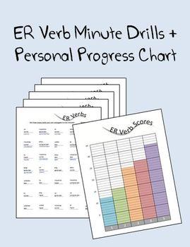 ER Verb Minute Drills plus Personal Progress Chart
