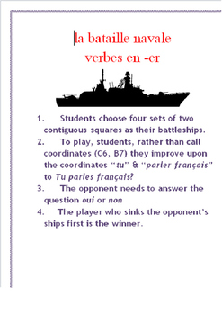 ER Verb Verbal Battleship