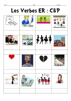 ER Verb infinitive Cut and Paste Activity