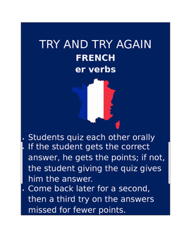 ER Verbs FRENCH Try and Try Again