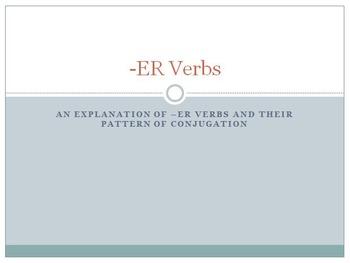 ER Verbs PowerPoint Lesson