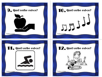 ER Verbs Present Tense Task Cards