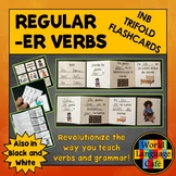 Spanish ER Verbs Interactive Notebook Trifold Flashcards