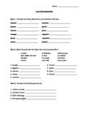 ER Verbs Vocabulary Worksheet