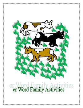 ER WORD FAMILY ACTIVITIES