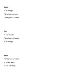 ER activities in French Detectives speaking activity