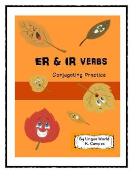 ER and IR Verb Conjugation Practice- Spanish- Verbos ER & IR