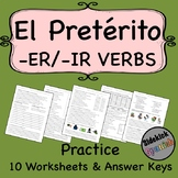 ER and IR Verbs in the Preterite Spanish Practice Worksheets
