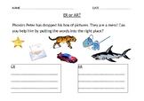 ER or AR Phonics Worksheet