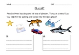 ER or AR Phonics Worksheet