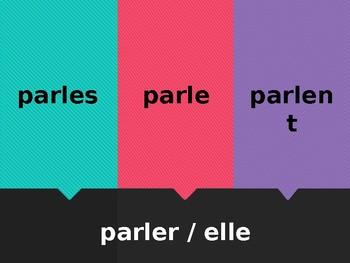 ER verbs in French Flyswatter game