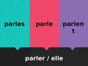 ER verbs in French Tapette à mouches Flyswatter game