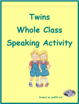 ER Verbs in French Verbes ER Jumeaux Speaking Activity