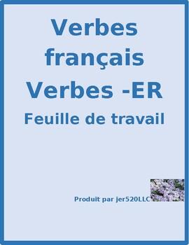 ER verbs in French worksheet 13