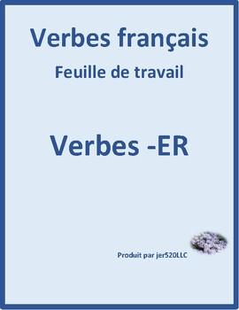 ER verbs in French Present tense worksheet 6