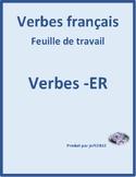 ER Verbs in French Verbes ER Present Tense Worksheet 6